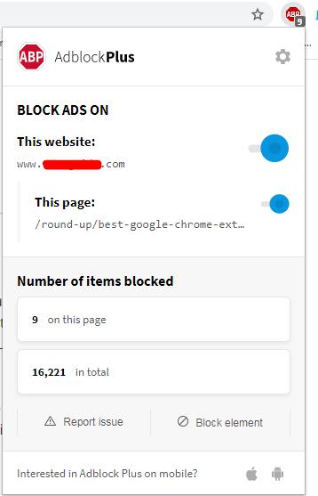 Adblock Plus Extension