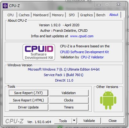 About Windows PC & CPU-Z CPUID | CPU-Z (CPUZ CPU Z CPU ID CPUID)
