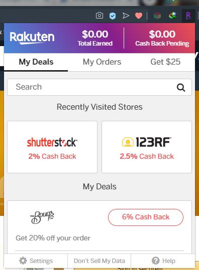 Rakuten / Ebates Button Extension