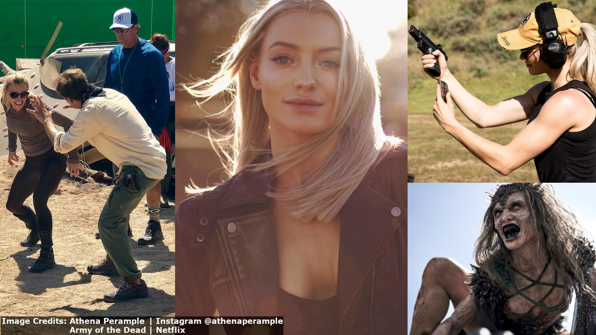 Athena Perample - Professional Stuntwomen Actress Beautiful Woman Hot Girl. Alpha Zombie Queen in Zack Snyder's Army of the Dead