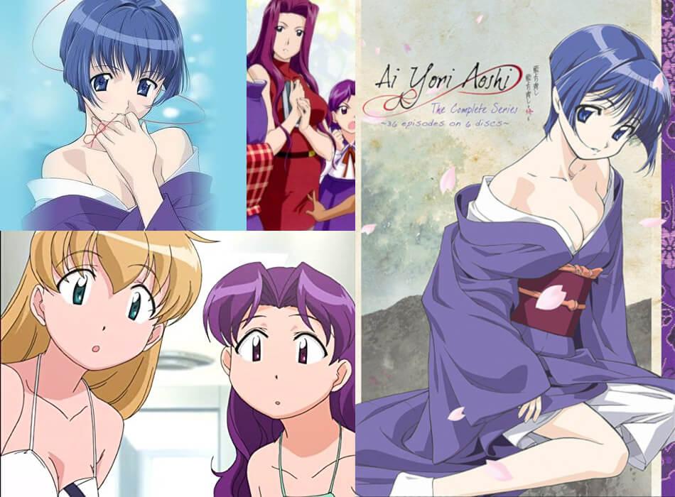 Sexy Anime Harem Romance. Ai Yori Aoshi (2002) - Bluer Than Indigo (2002). Romantic Comedy Animation Ecchi Anime Series Hot