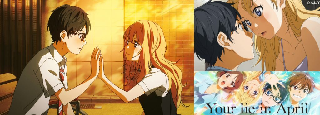 Sexy Kaori Miyazono in Shigatsu wa Kimi no Uso (2014) - Your Lie in April (2014) Beautiful Anime Girl Hot Romance Love Story