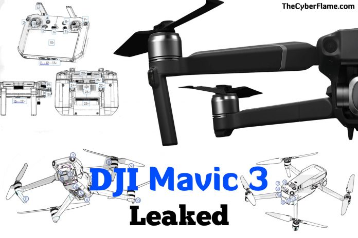 DJI Mavic 3 Leaks - Specifications Revealed - Upcoming DJI Mavic 3 Drone Leaked Information with Twitter Data and Images