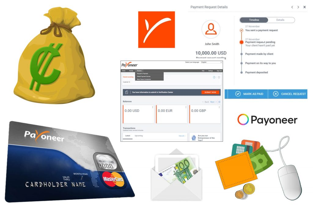 Payoneer Review Online Money Global Mass Payments Transactions. Online Banking Safe and Legit E-Money Wallet with Payoneer MasterCard and Account Dashboard Full Guide