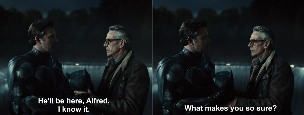 Finally Ben Affleck's Batman relies on faith in the Snyder Cut. Flying Fox Bat Airplane Scene in ZSJL 2021